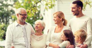 Famille Multi Generation et enfants